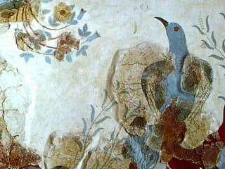 Egypercesek a rózsáról - Freskó kék madárral